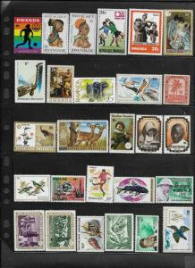 Rwanda Mixed Collection of 25 Mint Never Hinged stamps   Lot # 2