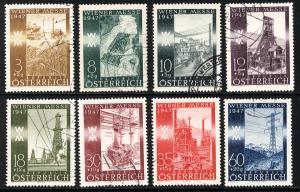 Austria 1947  Scott #B199-206 used