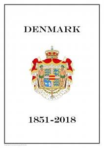 Denmark Danmark 1851 - 2018  PDF PDF(DIGITAL) STAMP ALBUM PAGES