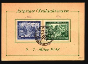 Germany 1948 Leipzig Messe Series Event Card / Sm Crease - Z17185