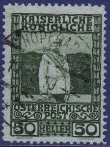 Austria - 1908 - Scott #121 - used - HOPFGARTEN pmk