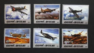 Aviation - Planes - Guinea Bissau 2005 - complete set ** MNH