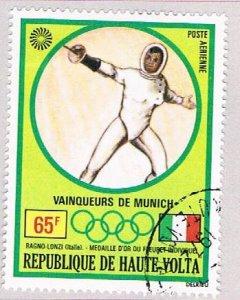 Burkina Faso C114 Used Gold medal Fencing 1972 (BP47508)