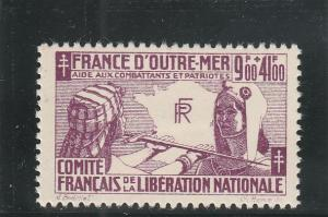 French Colonies  Scott#  B2  MH  (1943 Benefit of French Patriots)