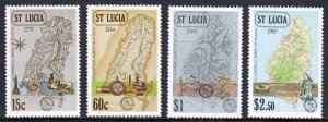 St. Lucia - Scott #888-891 - MNH - Some perf toning - SCV $9.15