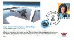 2020 Virgin Galactic SpaceShipTwo VSS Unity Second Glide Flight TOC NM 25 June