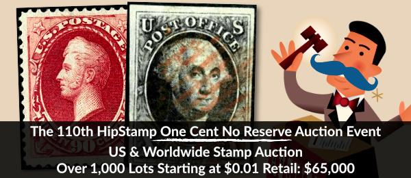 The 110th HipStamp One Cent Auction Event
