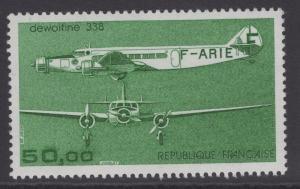 FRANCE SG2614d 1987 50f AIRCRAFT MNH