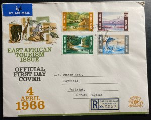 1966 Dar Es Salaam British KUT Tanganyika First Day Cover FDC Tourism Issue