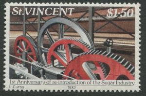 St Vincent - Scott 641 - Sugar Industry -1982 - MNH - Single $1.50c Stamp