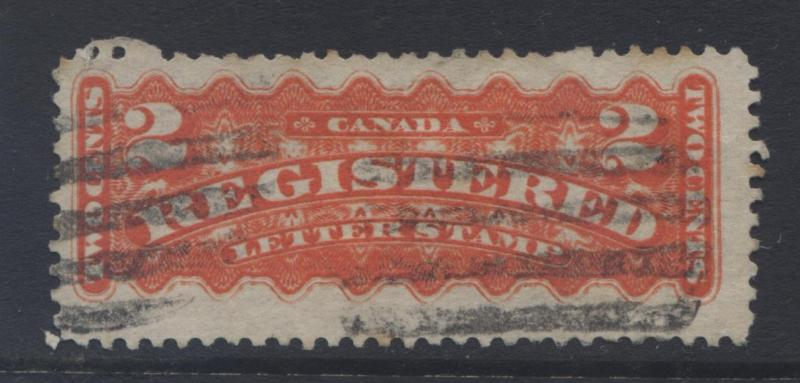 Canada - Scott F1 - Registration Stamp -1875 - Used - Single 2c Stamp