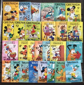 1979 Three Different Complete sets International Year of the Child Disney Stamps