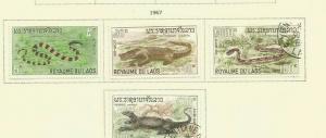 LAOS 1967 REPTILES SCOTT 156-9 MH/USED