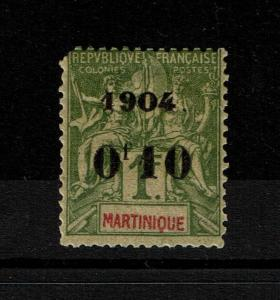 Martinique SC# 60 Mint Hined / Hinge Rem / Small Thin - S3410