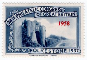 (I.B) Cinderella : 40th Philatelic Congress (Folkestone 1958) Castle