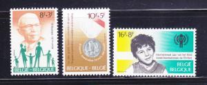 Belgium B988-B990 Set MH Various