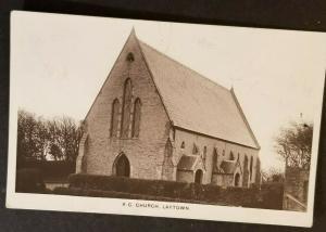 1916 Laytown to Kells Ireland County Meath R C Church RPPC Photo Postcard Cover
