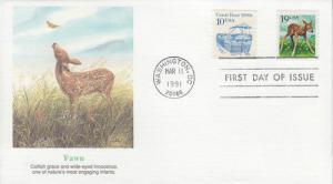 1991 Deer Fawn (Scott 2479) Fleetwood FDC