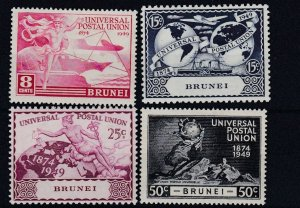 BRUNEI   1949  UPU SET OF 4  MH