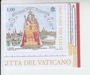 2016 Vatican City Mary, Patroness Luxembourg (Scott 1631) MNH
