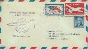 87441 - USA - Postal History - STATIONERY COVER: First Polar Flight - 1957