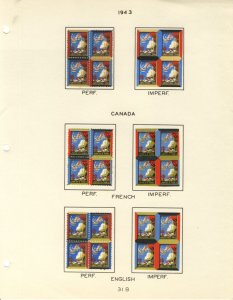 US #XMAS SEALS 1943 perfed and IMPERF (UNLISTED AS SUCH),  Mint seals, IMPERF...