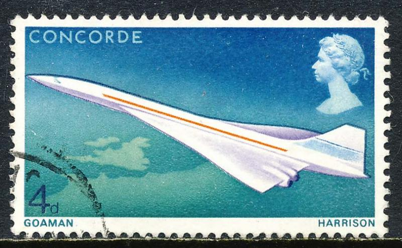 Great Britain 1969 Sc 581 Concorde Jet Aircraft Stamp U