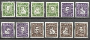 Doyle's_Stamps: VLH 1924 Danish 300th Postal Anniversary Stamp Set