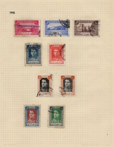 IRAN/PERSIA: 1942 Used Examples - Ex-Old Time Collection - Album Page (42803)