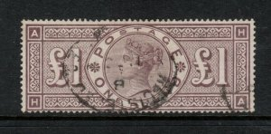 Great Britain #123 Used Fine+ Watermark 3 Orbs With Light Cancel