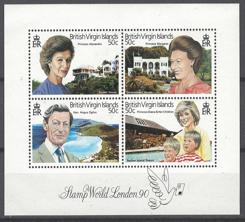 COLLECTION LOT OF # 1966 VIRGIN ISLANDS #656 MNH 1990