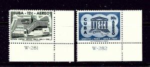 Cuba C193-94 MNH 1958 Unesco   #2