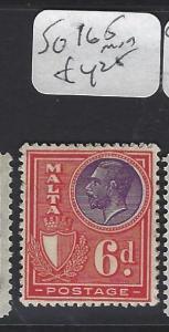 MALTA (PP0710B)   6D   POSTAGE SG 165     MOG