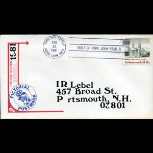U.S.A. 1981 - Comm.Envelope-Pope