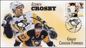 CA16-042, 2016, FDC, Canadian Forwards, Sidney Crosby, Day of Issue,