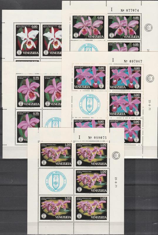 Venezuela #C1055-9 Sheets   MNH  CV $37.50 (A17235L)