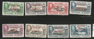 FALKLANDS, SOUTH SHETLANDS 5L1-8 MINT HINGED 1944