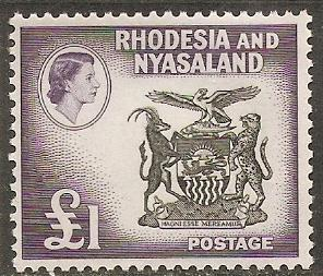 1959 Rhodesia & Nyasaland Scott 171 Coat of Arms MVLH