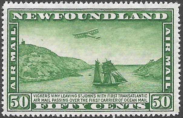 Newfoundland Airmail Stamp Scott Number C10 FVF LH