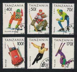 Tanzania Winter Olympic Games Lillehammer Norway 6v CTO SG#1742-1747