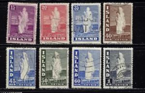 Iceland 203-08B Used 1938-47 set