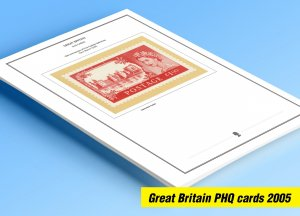 COLOR PRINTED GREAT BRITAIN 2005 PHQ CARDS STAMP ALBUM PAGES (80 illust. pages)