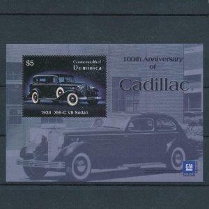 [106588] Dominica 2003 Classic cars Cadillac 1933 355-C V8 Sedan Sheet MNH