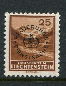Liechtenstein #O9 Mint