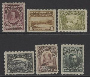 NEWFOUNDLAND SG111/6 1911 RECESS PRINTED SET MTD MINT