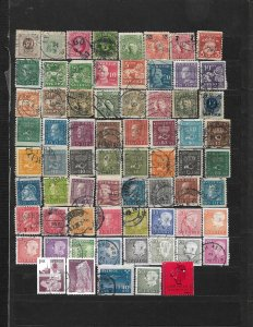 COLLECTION LOT OF 69 SWEDEN STAMPS 1877+