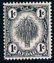 Malaysia Kedah 24a, 1c Sheaf of Rice, MNH, just F