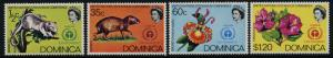 Dominica 337-40 MNH Environment, Animals, Flowers