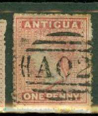 AA: Antigua 2 used (rose) CV $60