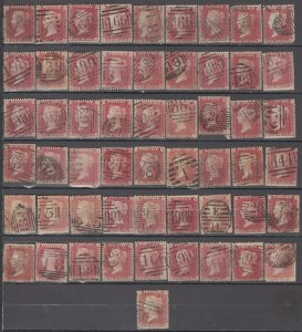 COLLECTION LOT OF #1042 GREAT BRITAIN # 33 * 55 STAMPS 1864 CV+$151 CLEARANCE